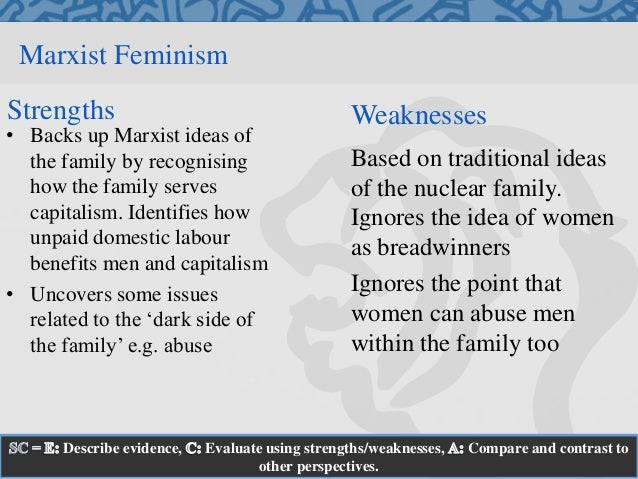 compare and contrast functionalism and feminism Functionalism and marxism are both sociological perspectives that ask, and state, certain theories about society and the people that live within it the two theories.