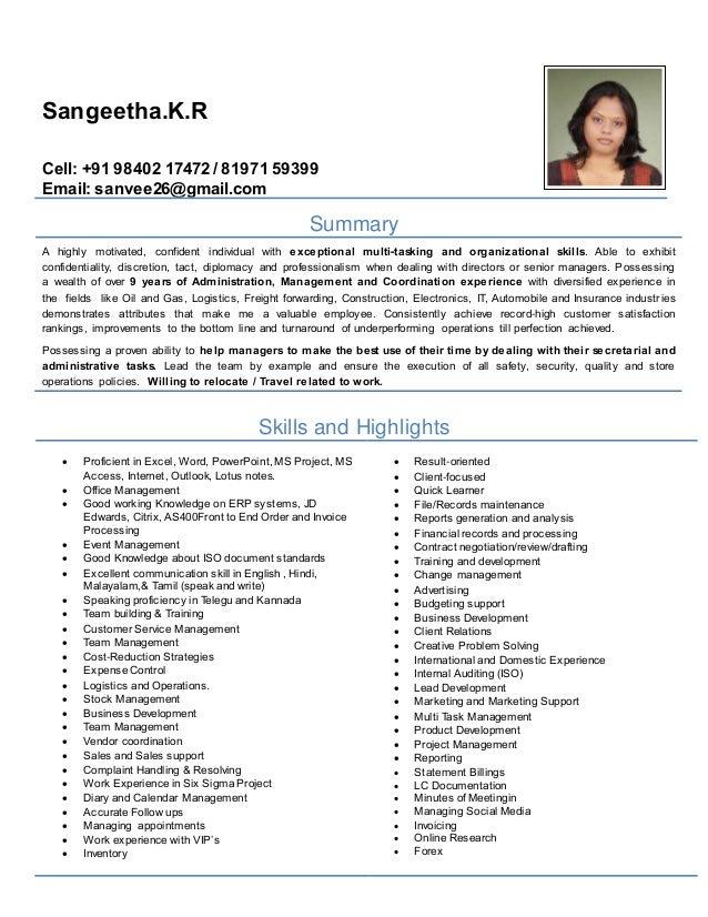 sangeeta cv