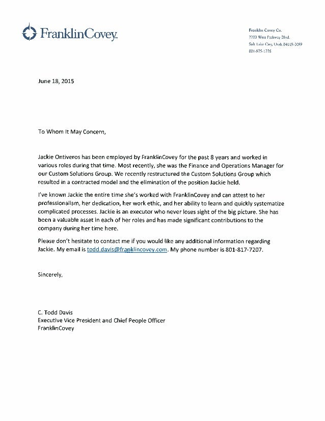 Jackie Ontiveros Letter