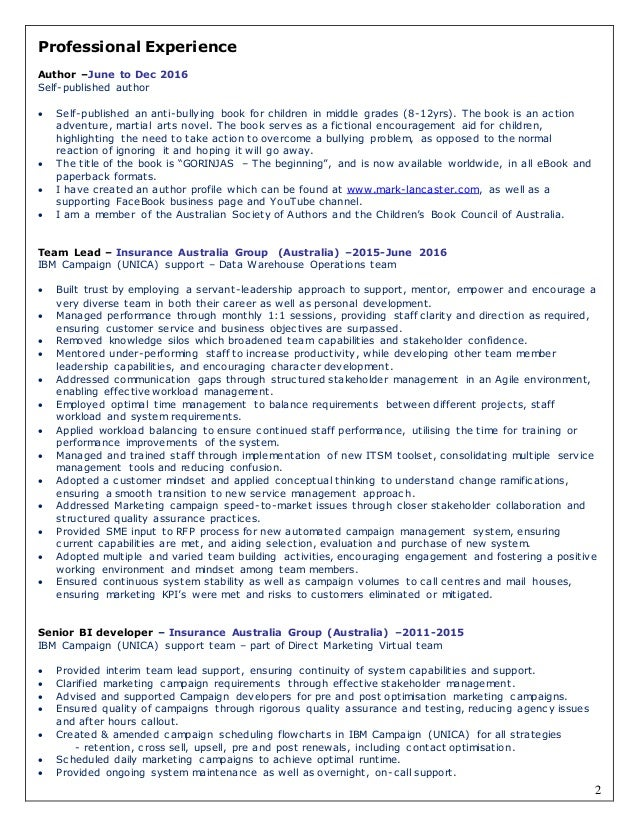 Lead Author Resume Template Free Sample Resume For Writer Appealing Sample  Resume For Ownership 2 2