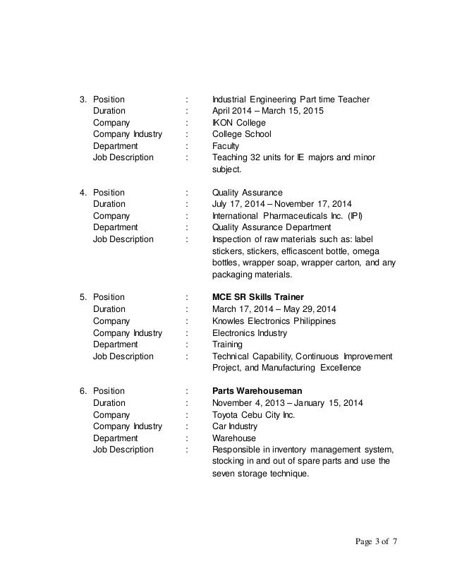 3 civil engineering student resume httpwwwresumecareerinfocivil - Manufacturing Engineering Job Description