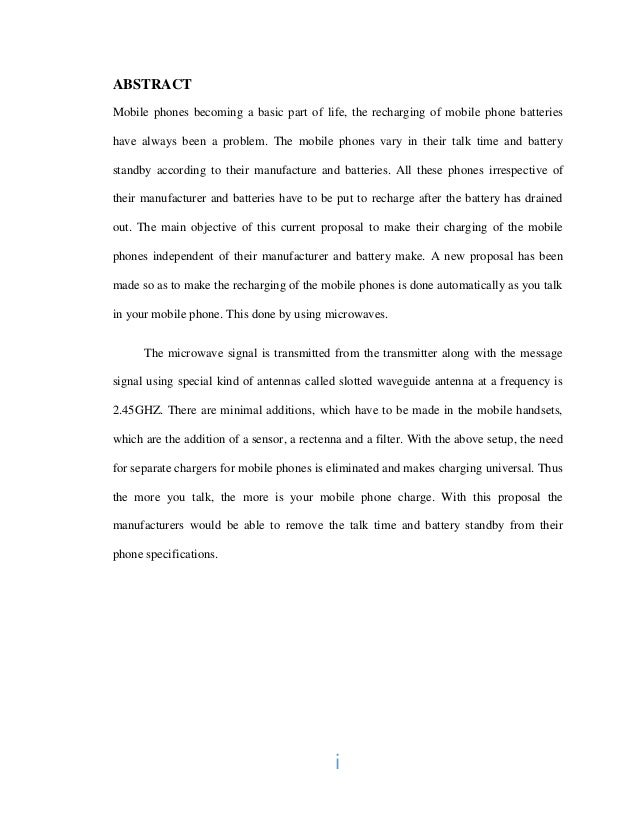 Essay of report