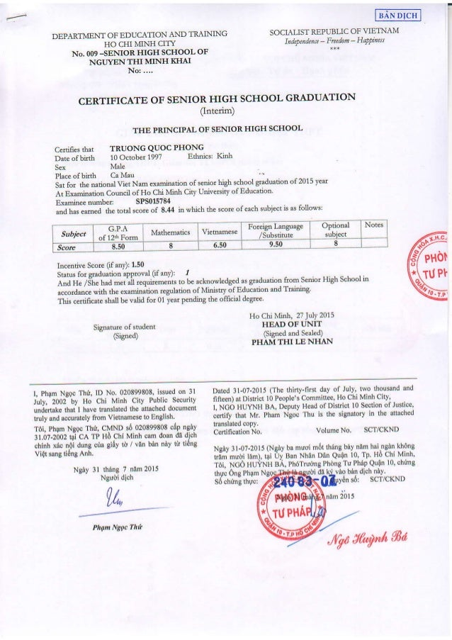 Certificate Of Senior High School GraduationPdf