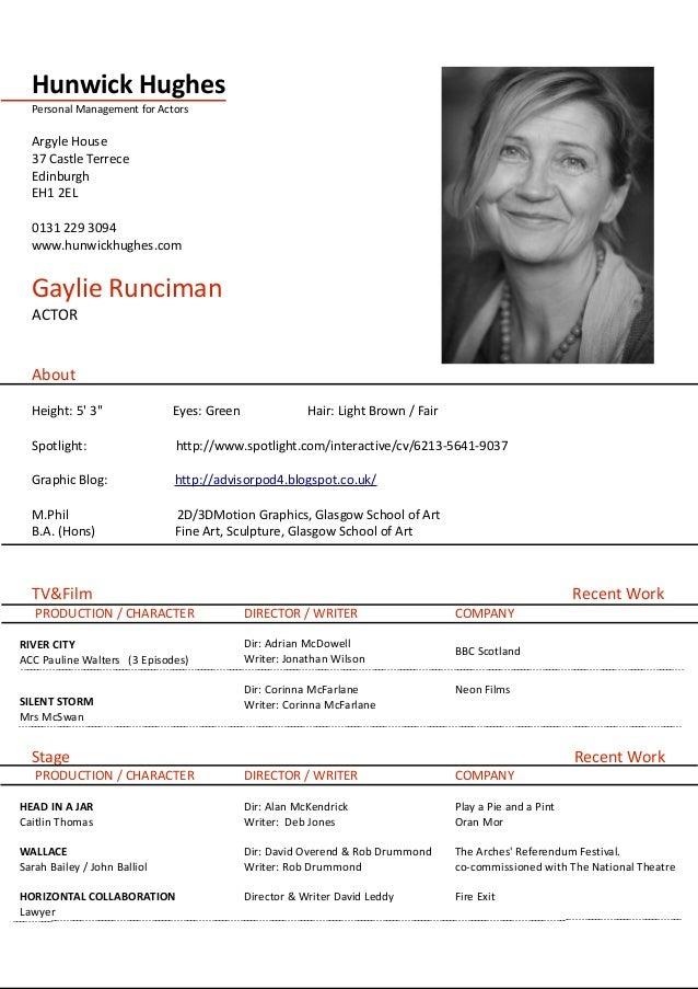 Gaylie Runciman CV