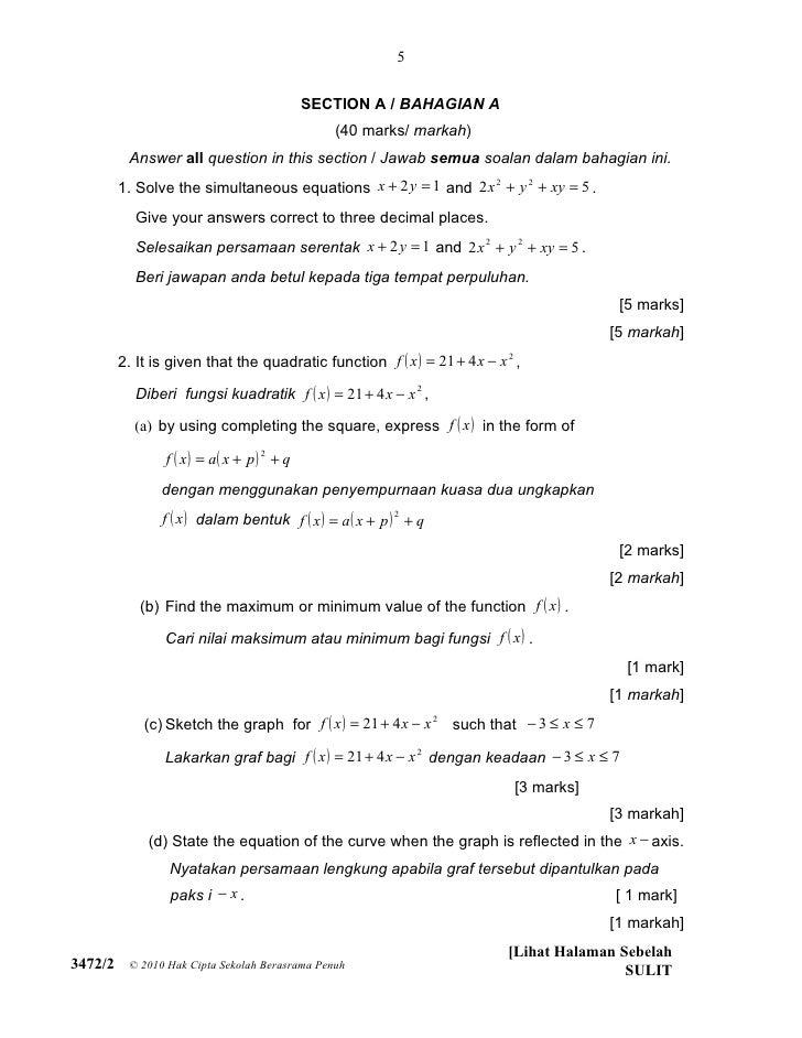 5                                               SECTION A / BAHAGIAN A                                                 (40...