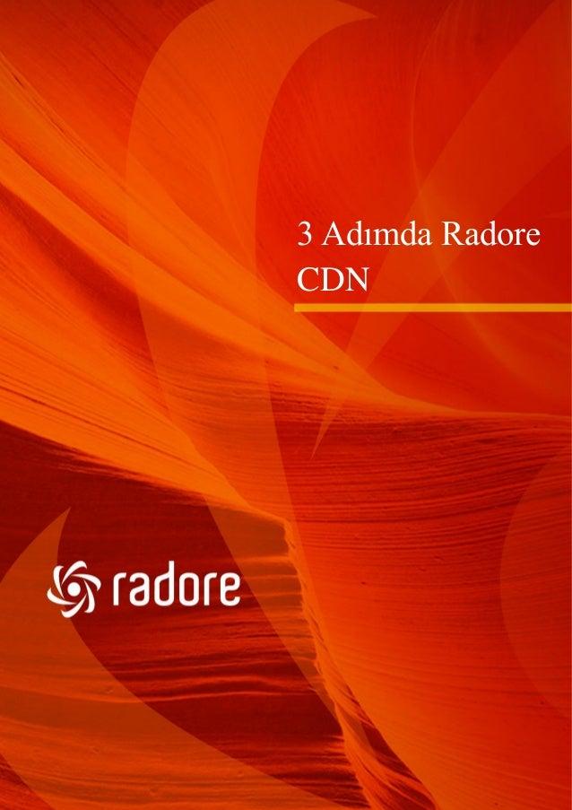 3 Adımda Radore CDN