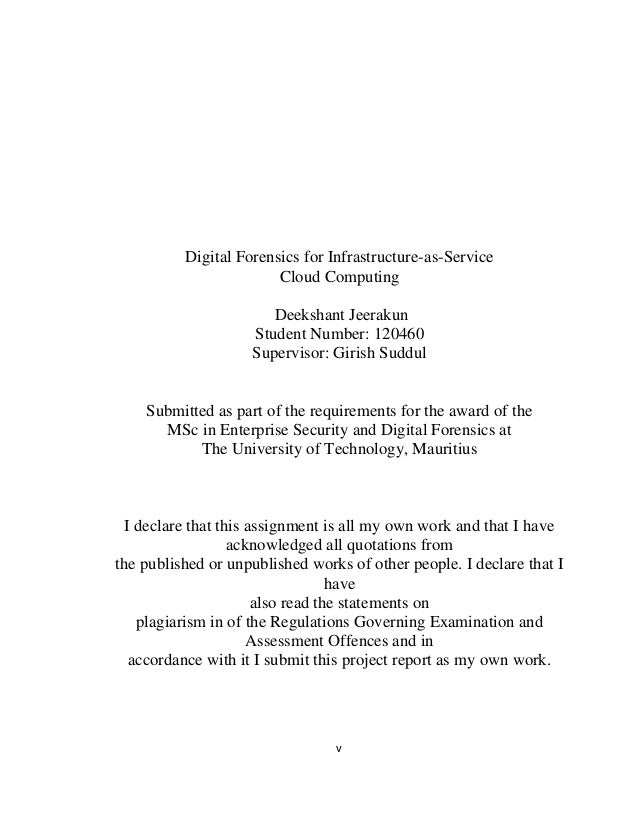 Computing msc dissertation