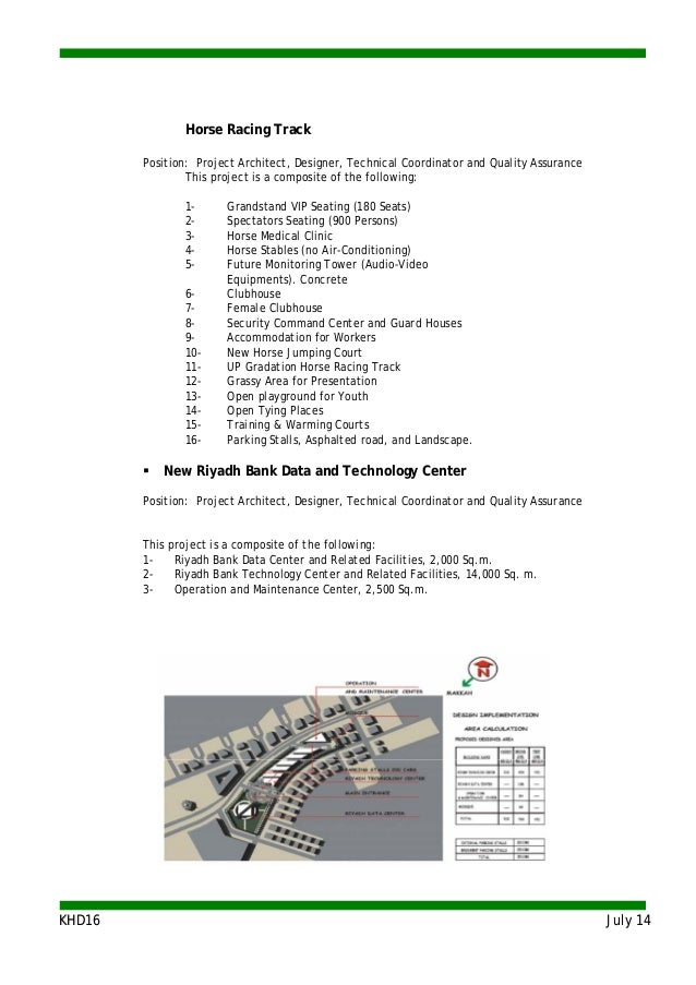 KKHHDD1166 JJuullyy 1144 Horse Racing Track Position: Project Architect, Designer, Technical Coordinator and Quality Assur...