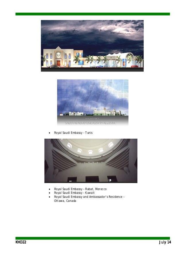KKHHDD2222 JJuullyy 1144 • Royal Saudi Embassy – Tunis • Royal Saudi Embassy – Rabat, Morocco • Royal Saudi Embassy – Kuwa...
