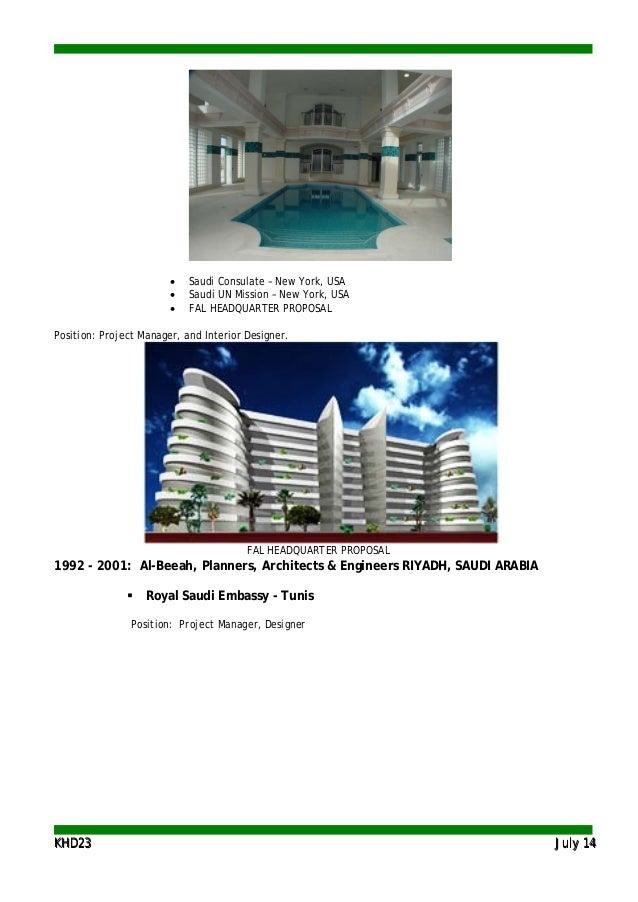 KKHHDD2233 JJuullyy 1144 • Saudi Consulate – New York, USA • Saudi UN Mission – New York, USA • FAL HEADQUARTER PROPOSAL P...