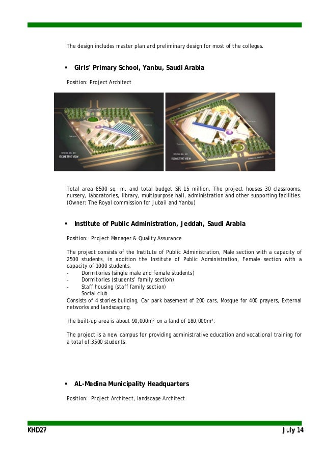 KKHHDD2277 JJuullyy 1144 The design includes master plan and preliminary design for most of the colleges.  Girls' Primary...