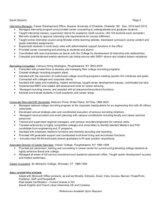 Sarah Sipperly Real Estate Resume
