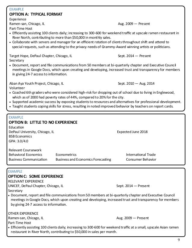 business resume packet 12 10 15