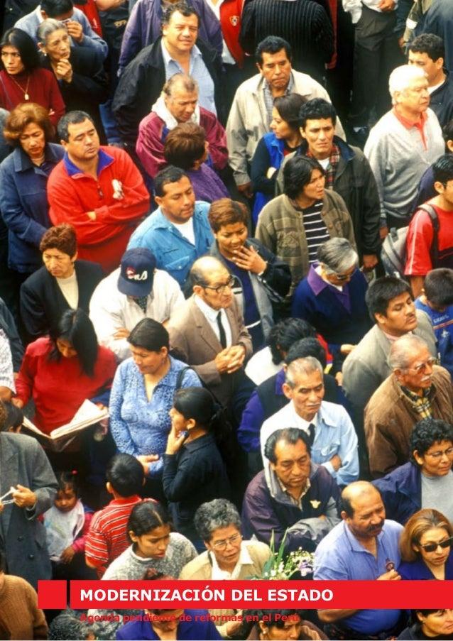 MODERNIZACIÓN DEL ESTADO Agenda pendiente de reformas en el Perú