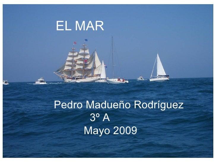 EL   MAR Pedro Madueño Rodríguez 3º A  Mayo 2009