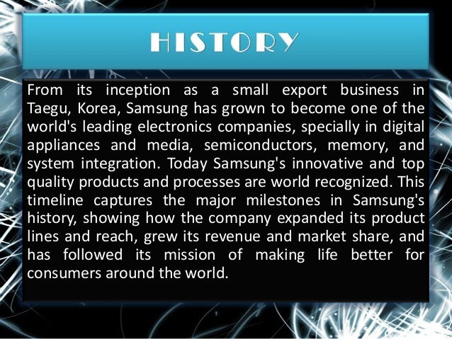 Samsung Company Profile