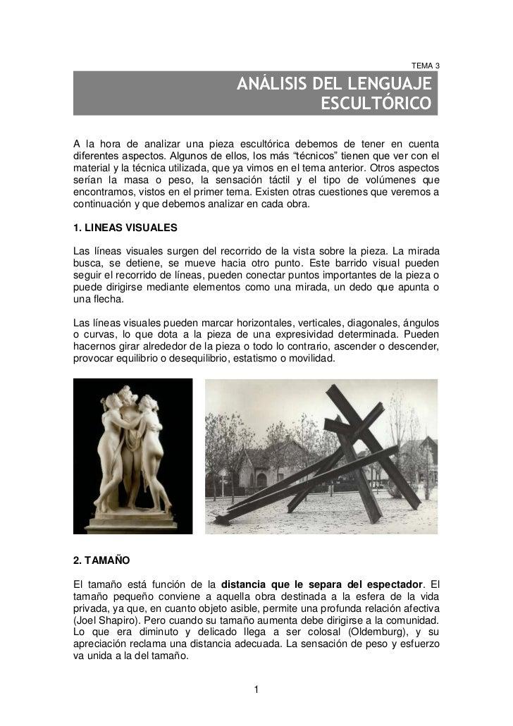 TEMA 3                                    ANÁLISIS DEL LENGUAJE                                              ESCULTÓRICOA ...