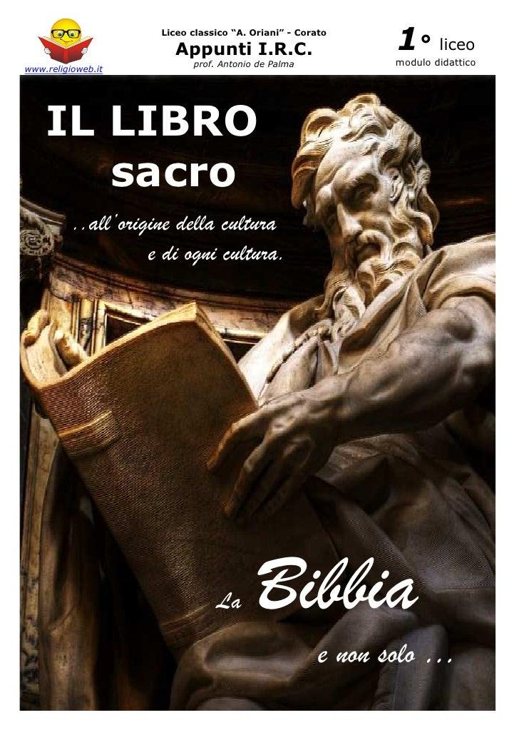"""Liceo classico """"A. Oriani"""" - Corato                       Appunti I.R.C.                       1° liceo                   ..."""