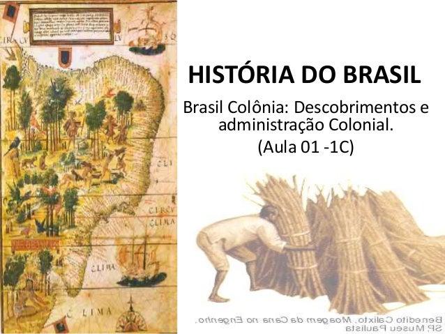 HISTÓRIA DO BRASIL Brasil Colônia: Descobrimentos e administração Colonial. (Aula 01 -1C)