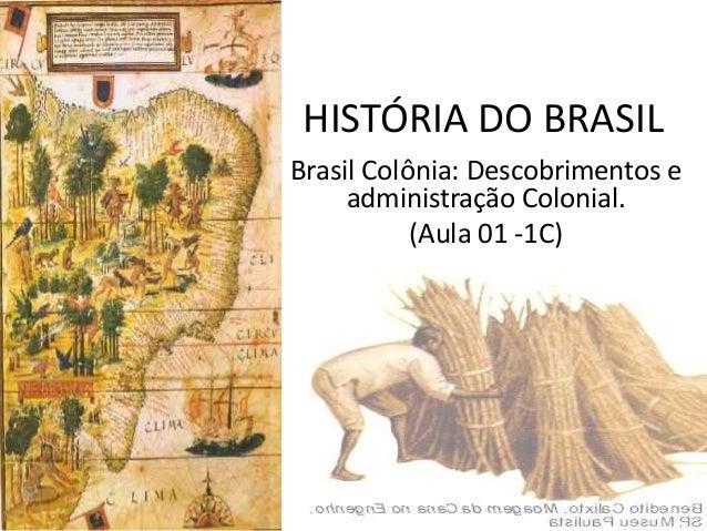 HISTÓRIA DO BRASILBrasil Colônia: Descobrimentos eadministração Colonial.(Aula 01 -1C)