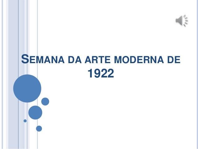 SEMANA DA ARTE MODERNA DE 1922