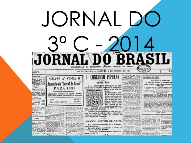 JORNAL DO 3º C - 2014