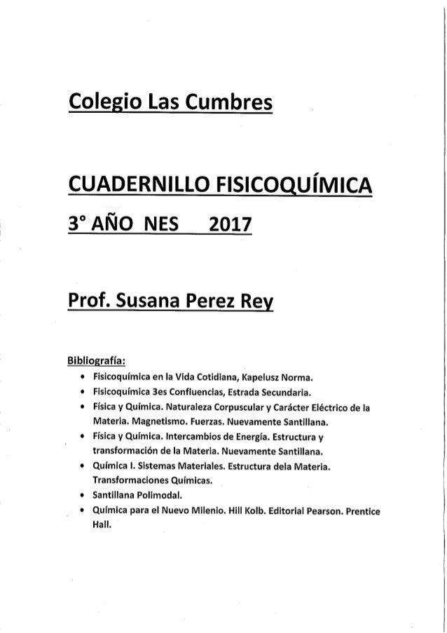 3° Año Fisico Química 2017