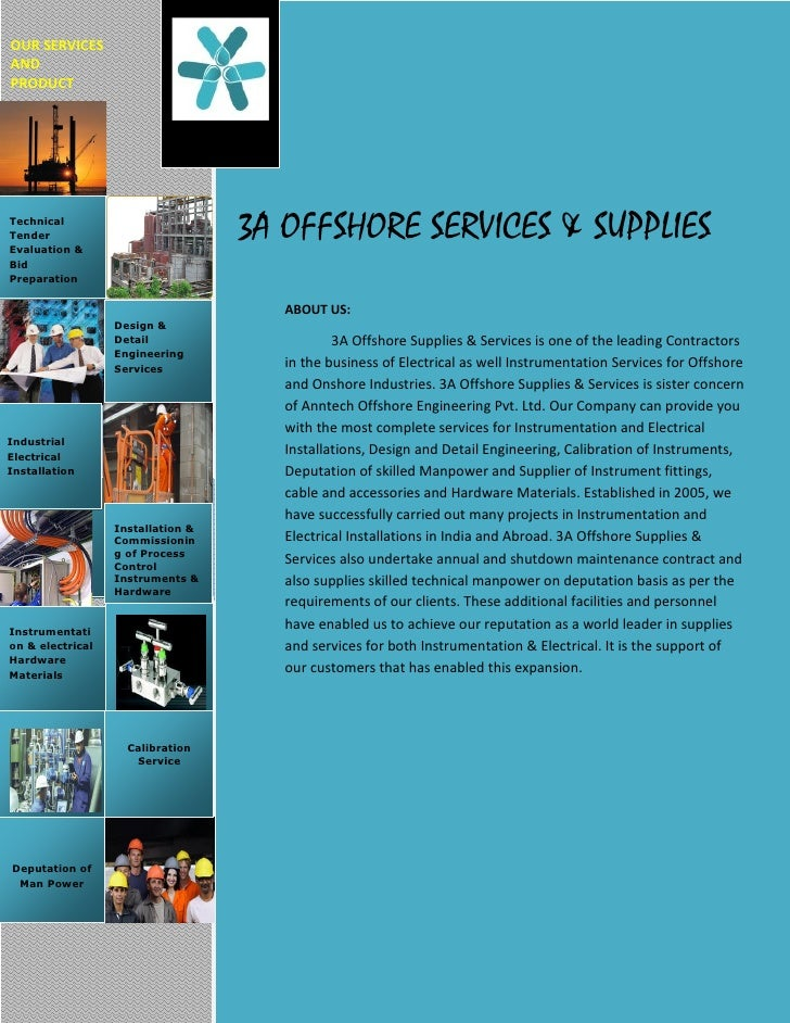 OUR SERVICESANDPRODUCTTechnicalTenderEvaluation &                                   3A OFFSHORE SERVICES & SUPPLIESBidPrep...
