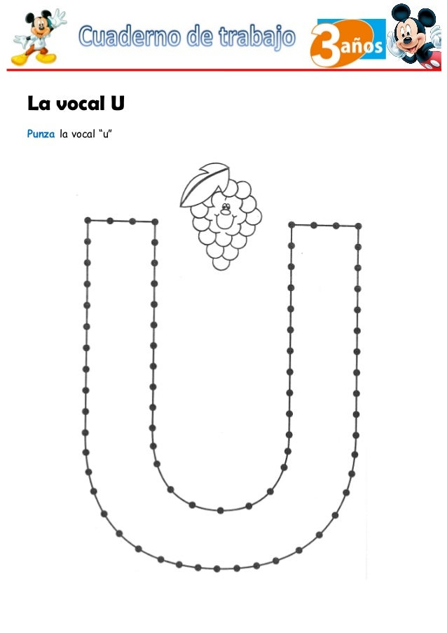 """La vocal U Punza la vocal """"u"""""""