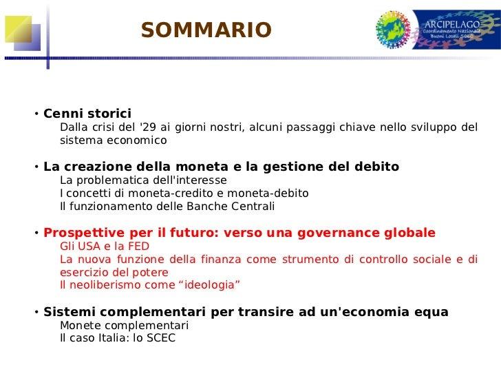 3a parte: verso la governance globale Slide 2
