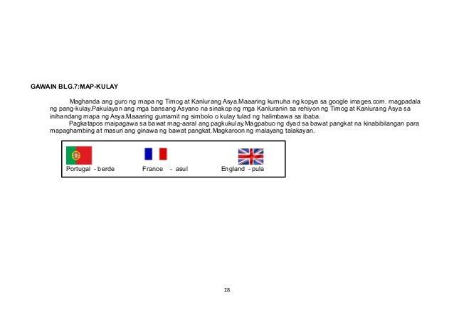 GAWAIN BLG.7:MAP-KULAY Maghanda ang guro ng mapa ng Timog at Kanlurang Asya.Maaaring kumuha ng kopya sa google images.com....