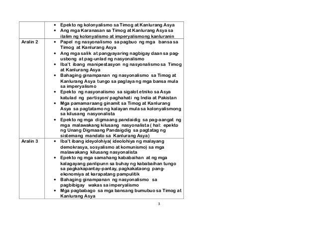 Araling Panlipunan Grade 8 - Third Quarter Module Slide 3