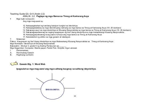 Teaching Guide:Q3, Gr 8 (Aralin 2.2) ARALIN 2.2: Paglaya ng mga Bansa sa Timog at Kanlurang Asya • Mga tiyak na layunin: A...
