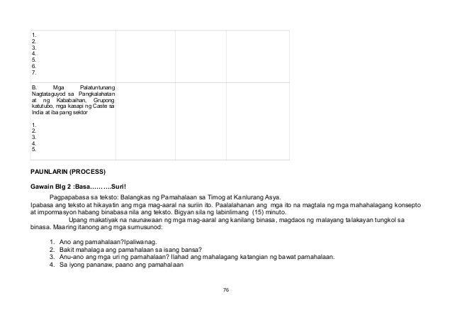 1. 2. 3. 4. 5. 6. 7. B. Mga Palatuntunang Nagtataguyod sa Pangkalahatan at ng Kababaihan, Grupong katutubo, mga kasapi ng ...