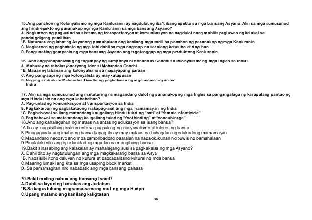 15.Ang panahon ng Kolonyalismo ng mga Kanluranin ay nagdulot ng iba't ibang epekto sa mga bansang Asyano. Alin sa mga sumu...
