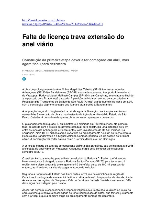 http://portal.correio.com.br/leitor-noticias.php?tp=0&id=/124094&ano=/2012&mes=/08&dia=/01Falta de licença trava extensão ...