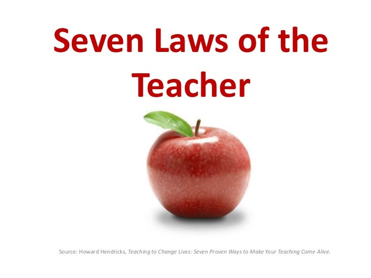 the seven laws of the teacher