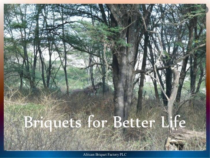 AA   BB   FFBriquets for Better Life        African Briquet Factory PLC