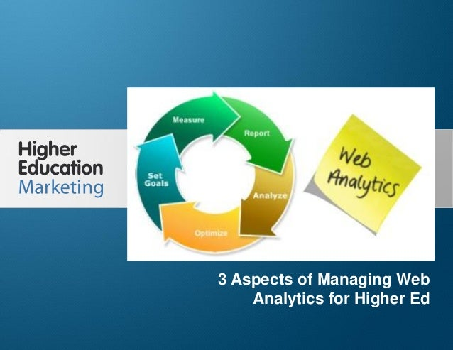 3 Aspects of Managing Web Analytics for Higher Ed Slide 1 3 Aspects of Managing Web Analytics for Higher Ed