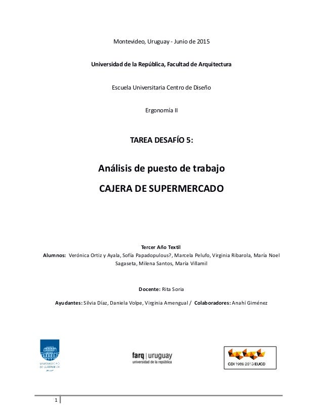 Montevideo, Uruguay - Junio de 2015 Universidad de la República, Facultad de Arquitectura Escuela Universitaria Centro de ...