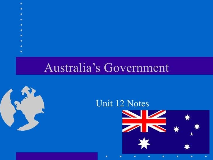 Australia's Government Unit 12 Notes