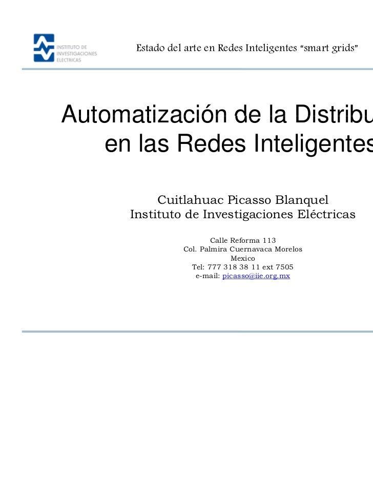 """Estado del arte en Redes Inteligentes """"smart grids""""                                                             AIUME.Auto..."""
