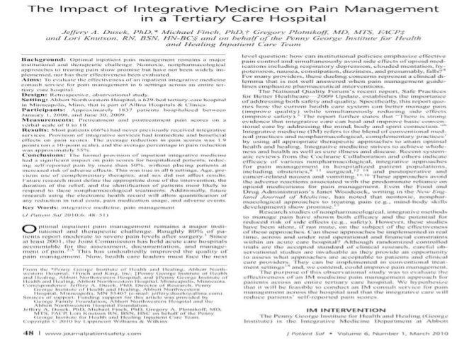 Reducing Pain in the Abbott Northwestern Hospital Emergency