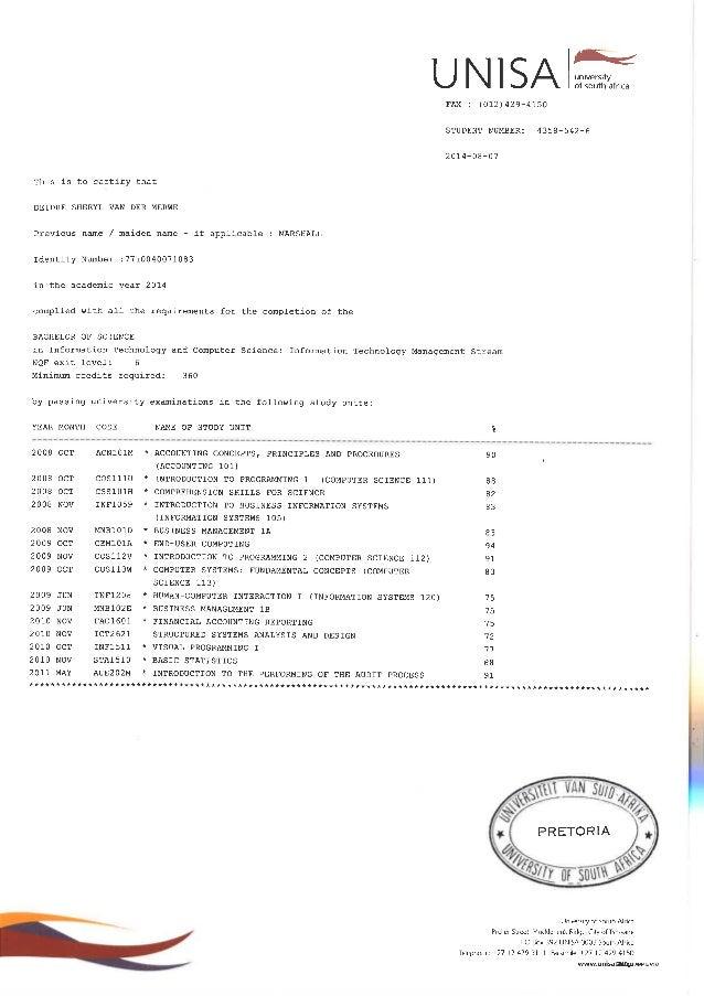 UnisaTranscripts