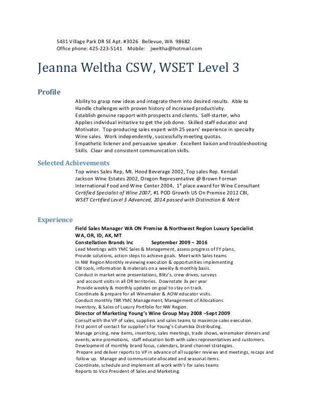 jeanna weltha resume jan 2016