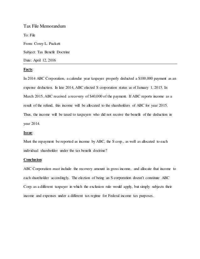 Tax File Memorandum 4