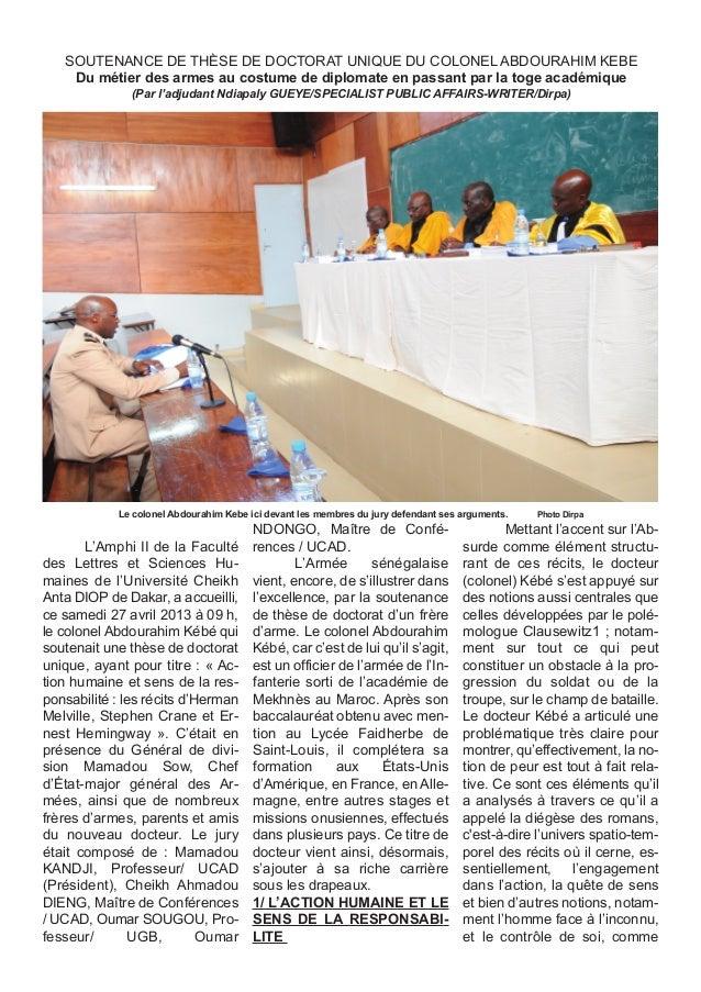 L'Amphi II de la Faculté des Lettres et Sciences Hu- maines de l'Université Cheikh Anta DIOP de Dakar, a accueilli, ce sam...
