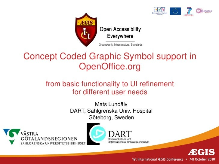 Concept Coded Graphic Symbol support in           OpenOffice.org     from basic functionality to UI refinement            ...