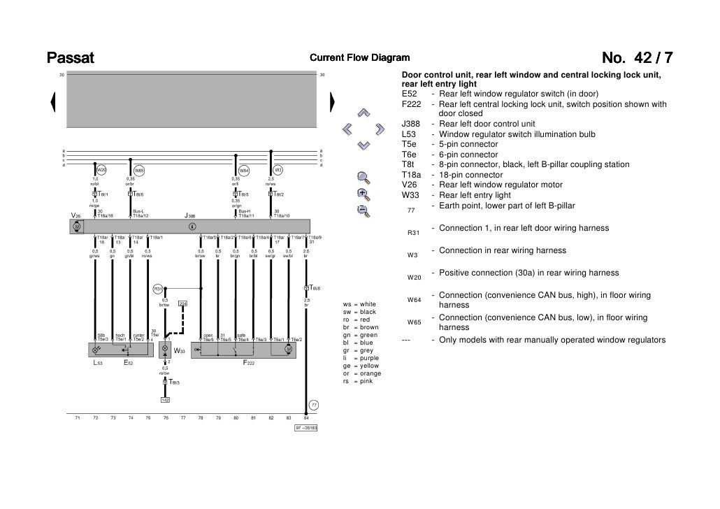 passat b b convenience wiring diagram diagram for interior monitoring 7