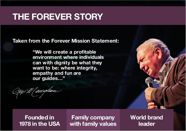 Forever living business presentation for Adobe mission statement